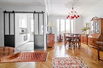 CHARMING CROSSING APARTMENT COMBINING THE OLD PARISIAN CHARM AND CONTEMPORARY LINES
